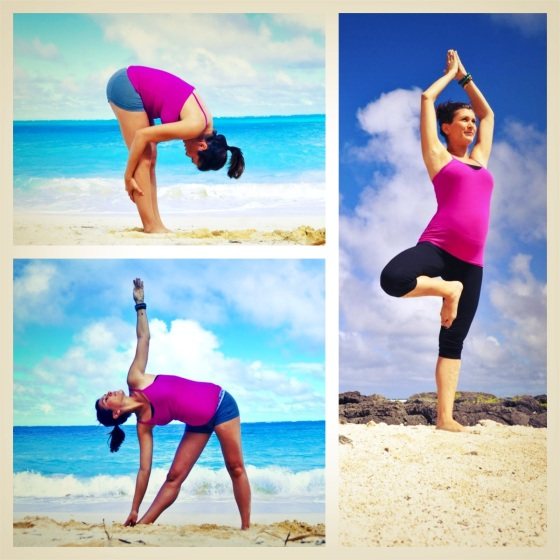 A mixed version of today's Yoga move and other fun moves I did on the beach for the @growsoulbeautiful challenge.