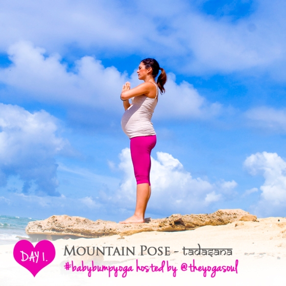 The purpose of the Mountain pose is to instill grounding, balance & strength.