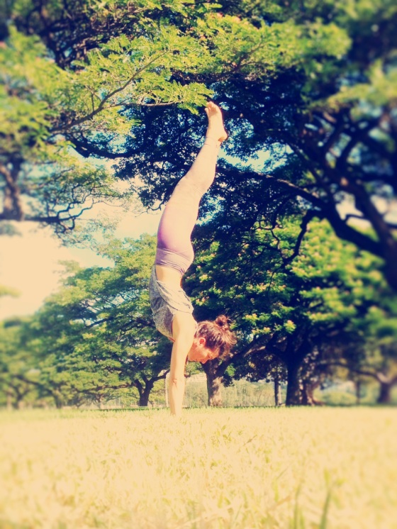To get my prana going after my run I always finish it off with some sun salutations & a handstand.